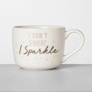 SET OF 2 I DON'T SWEAT I SPARKLE Mugs NEW